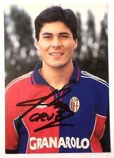 Cartolina Bologna Calcio 2000-01 Julio Ricardo Cruz Autografo