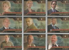 "Iron Man Movie - ""Casting Call"" 9 Card Chase / Insert Set #CC1-9"