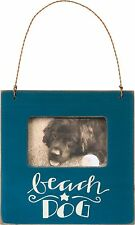 "Primitives By Kathy Wood Box Frame Holds 2""x 3"" Blue ""beach Dog."""