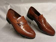 Clarks Men's Brown Leather Formal Slip On Shoes Size UK 10