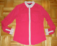 Maeve Anthropologie Shirt Top Blouse Pink Long Sleeve Button Down Womens Size 4