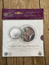 William & Kate Royal Wedding 2011 Official BU £5 Five Pound Coin  Sealed Pack