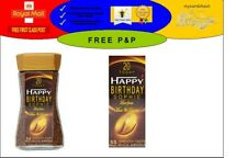 PERSONALISED NESCAFE GOLD BLEND COFFEE LABEL BIRTHDAY ANY NAME AGE OCCASION