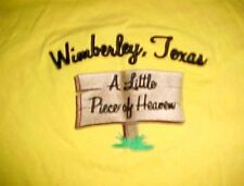 Wimberly Texas A Little Piece of Heaven Adults Yellow Embroidered T-shirt XL