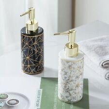 Lotion Bottle Shampoo Dispenser Stylish Pump Marble Ceramic Llquid Soap