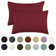 2 Packs Zippered Pillowcases Brushed Microfiber Pillow Cases Silky-Soft