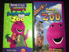 Barney - Lets Go to the Zoo & Alphabet Zoo /Let's pretend Lot of three Vhs.