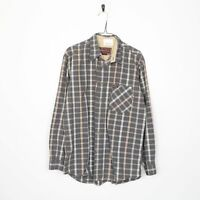MARLBORO CLASSICS Long Sleeve Check Shirt Grey | Large L