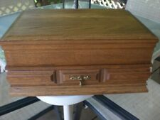 New listing Large Pacific Silver Solid Oak Tarnish Proof Silverware Chest with Drawer