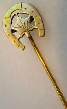 Antique Victorian 14K Gold Elegant Horse Shoe Tie Pin 1870-1880