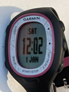 Garmin FR70 W Ladies Black Pink Bezel Watch Only NO HR Band Sml/Med Band