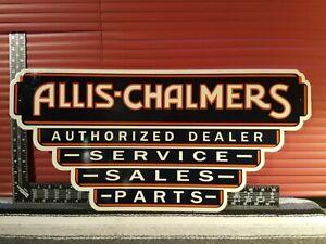Allis Chalmers Authorized Dealer Service Sale Parts Metal Sign