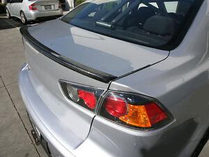 Carbon Mitsubishi Lancer EVO X Trunk Deck Lip Spoiler M Type Fiber 2008-2013