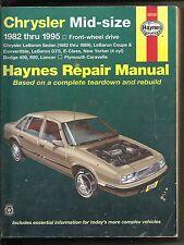 Chrysler Mid-size 1982 thru 1995 Dodge Chrysler & More Haynes Car Repair Manual