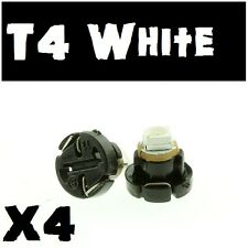 4 X White T4 Neo Wedge ,LED Twist Lock LCD Dash Light Bulb VT VX