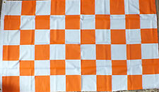Orange White Tangerine check 5x3 flag BFC Blackpool Seasiders football Rugby bn