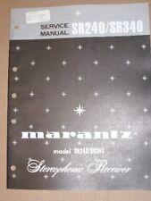 Marantz Service/Repair Manual~SR240/SR340 Receiver