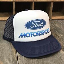 Ford Motorsport Mustang SVT Trucker Hat Vintage 80's Mesh Back Snapback! Navy