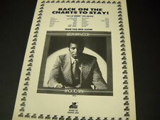 Leon Haywood is Back On The Charts To Stay 1973 Promo Poster Ad mint condition