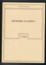 Vincenzo USSANI JR.    MEMORIA CLASSICA    KEPOS EDIZIONI    1996