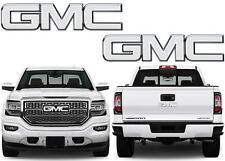 Colormatched Summit White Vinyl Bowtie Overlays For 2016-2018 GMC Sierra New USA