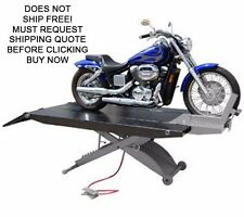 NEW Titan 1000D-XLT 1000 lb Motorcycle Lift Lifting Table With Side Extensions