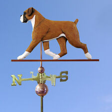 Boxer Uncropped Hand Carved Hand Painted Basswood Dog Weathervane Fawn