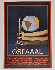 1981 Original Cuba Political Poster.Cold War Graphic.OSPAAAL Tri-Continental art