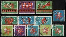 Olympische Spiele 1966 Mi.-Nr. 1262-1267; 1274-1279 gestempelt