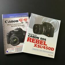 Canon EOS Rebel XTi/400D Book lot of 2 Magic Lantern Guides & Buschs Photography