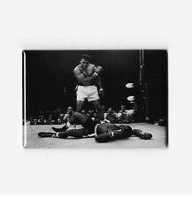MUHAMMAD ALI vs SONNY LISTON / KNOCK OUT PHOTO - VINTAGE BOXING POSTER MAGNET