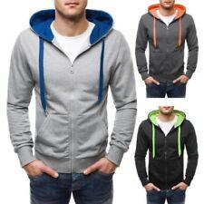Unifarbene Herren-Kapuzenpullover & -Sweats aus Baumwollmischung OZONEE