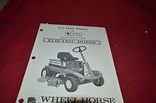 Wheel Horse A-60 Riding Mower Parts Book Manual BVPA