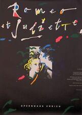 Original Plakat - Opernhaus Zürich - Romeo et Juliette