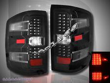 2014+ CHEVY SILVERADO 1500 LED TAIL LIGHTS JDM BLACK NEW