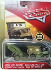DISNEY PIXAR CARS - SARGE with CANNON - DELUXE - RADIATOR SPRINGS