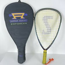 """New listing Spalding Assault Series 21"""" Pro Racquetball Graphite Racquet With Cover"""