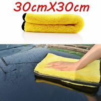 Car Cleaning Towel Washing Cloth Rag Dry Microfiber Super Thick Absorbent US sm