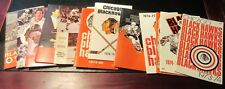 VINTAGE CHICAGO BLACKHAWKS HOCKEY YEARBOOKS 1973 TO 1986 LOT OF 12 PRESS GUIDES