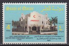 Qatar 1989 ** Mi.931 Roter Halbmond Red Crescent Gesundheit Health Hospital