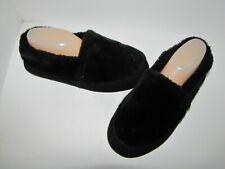 ACORN Black Faux Fur Slippers - 9.5-10.5W  Mint