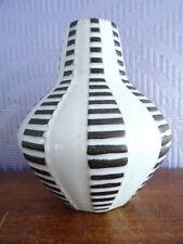 Carstens Goldscheider Vase Alaska schwarz-weiß pottery WGP German design