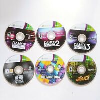 Lot Of 6 Xbox 360 Kinect Games Dance Central, Hip Hop, Just Dance *Discs Only*
