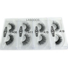 4 Pairs 3D Mink False Eyelashes Luxurious 100% Siberian Fur Lashes 02 Set Hot