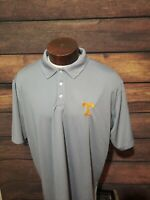 Tennessee Volunteers Mens 2XL XXL Gray Short Sleeve Golf Polo Shirt