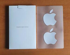Genuine Apple Logo Stickers x2 - New & Unused - iPad, iPhone, iMac, MacBook