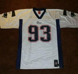 Vintage NE Patriots Richard Seymour #93 Jersey, Mens L, Reebok, White