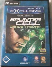 PC DVD-ROM Tom Clancy's Splinter Cell - Chaos Theory (2005) USK 16 Ubisoft