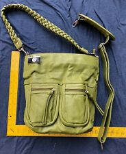 Epiphanie Green Vegan Leather Camera Bag Purse NEW