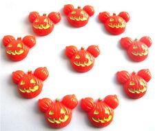 10 Calabaza de Halloween iluminado kitch Cabochons Decoden-Envío Rápido Gratis